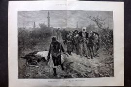 ILN 1880 LG Antique Print. Albanian Sketches: Retribution - End of a blood feud